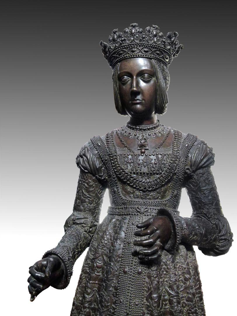 Kaiserin Bianca Maria Sforza (Innsbruck) obere Statuenhälfte