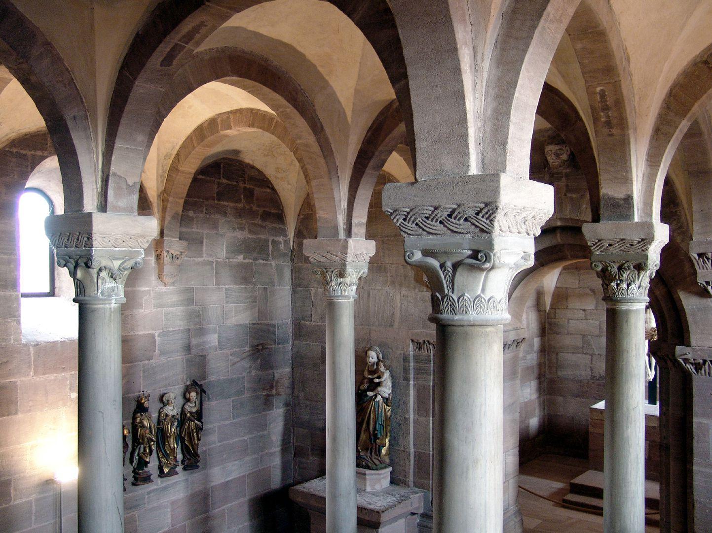 Kapelle der Kaiserburg Querblick durch die Obere Burgkapelle von Südwest nach Nordost