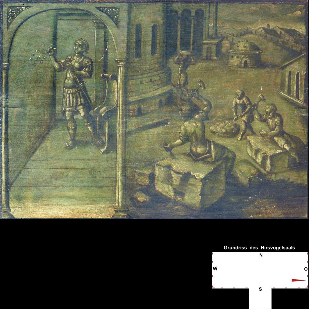 Cäsarenzyklus Vitenszene zu Domitian: Gesamt