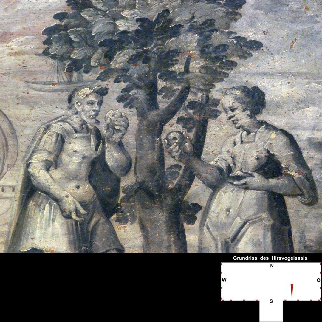 Cäsarenzyklus Vitenszene zu Augustus mit seiner Frau Livia (?)
