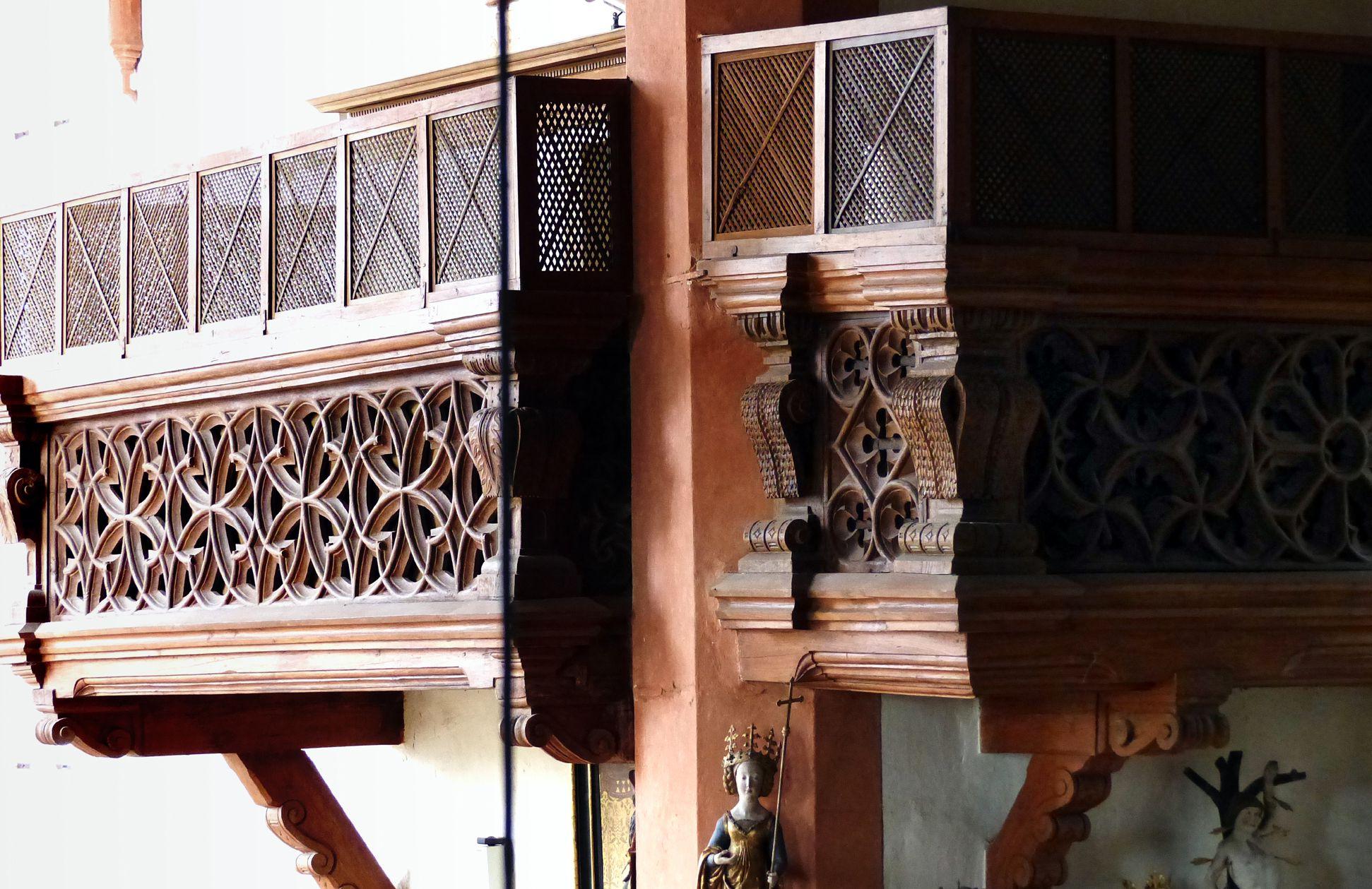 Holzemporen in der Kirche St. Marien und Christophorus, Kalbensteinberg Ecke der Herrschaftsloge