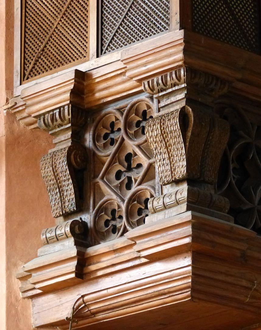 Holzemporen in der Kirche St. Marien und Christophorus, Kalbensteinberg Herrschaftsloge, westlicher Teil, Nordfeld