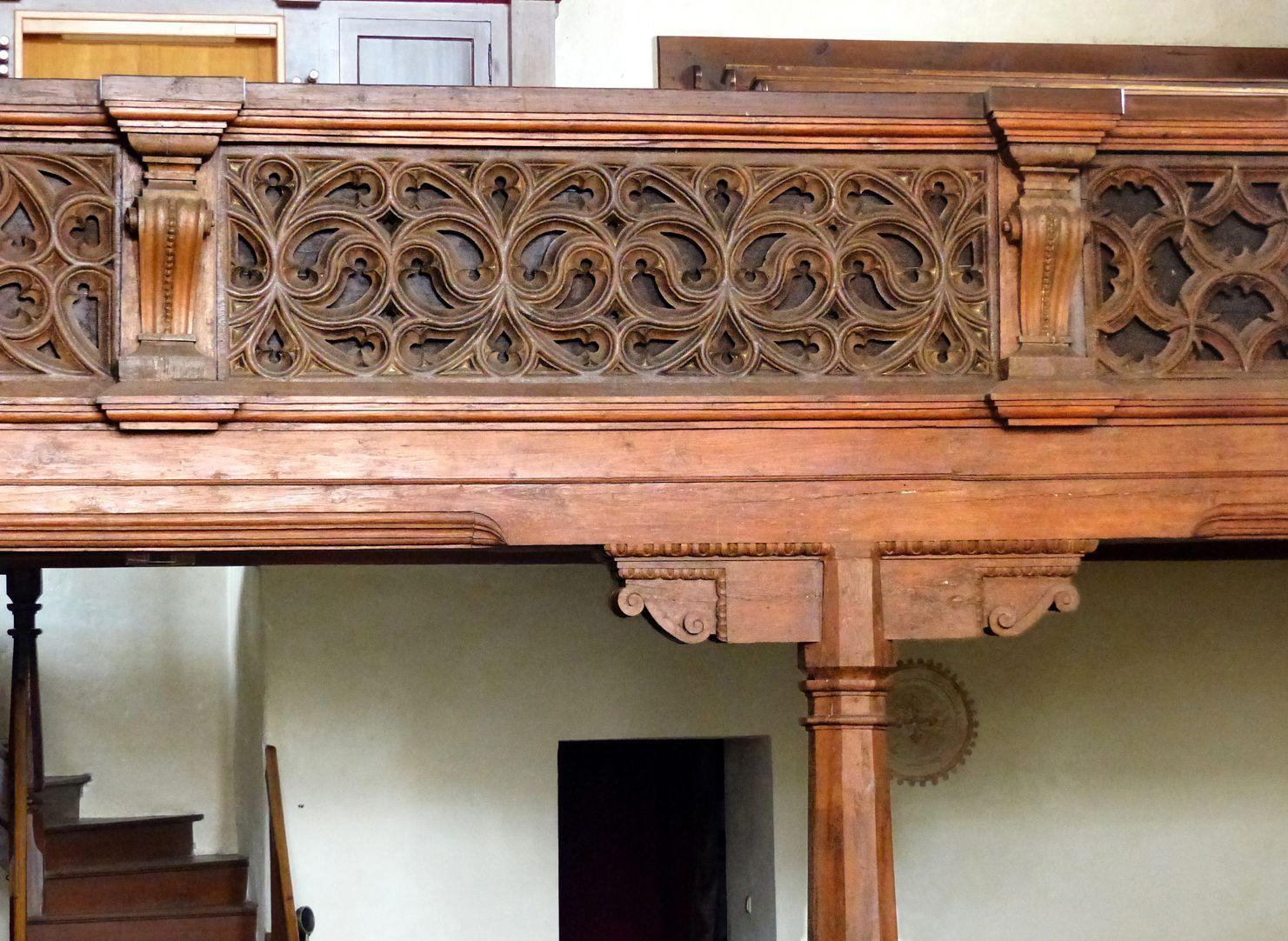 Holzemporen in der Kirche St. Marien und Christophorus, Kalbensteinberg Orgelempore, Detail