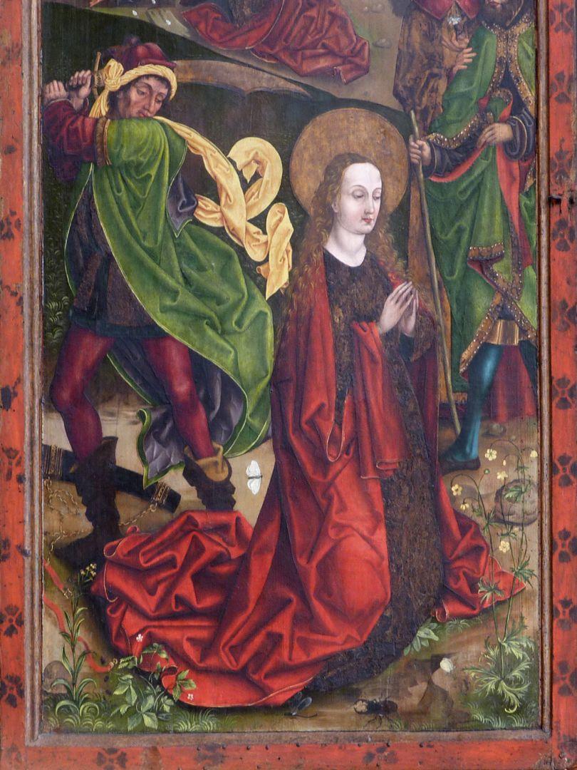 Katharinenretabel des Levinus Memminger linker Flügel: Enthauptung der heiligen Katharina