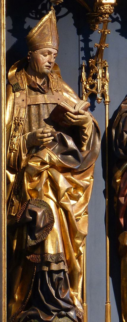 Katharinenretabel des Levinus Memminger Bischof Levinus [Livinus] von Gent