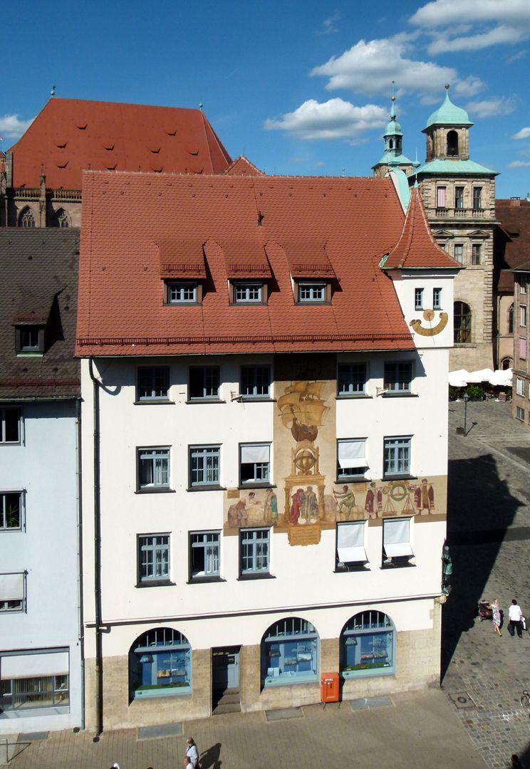 Kaufmannszug Südfassade, 16. Jh., EG 1909
