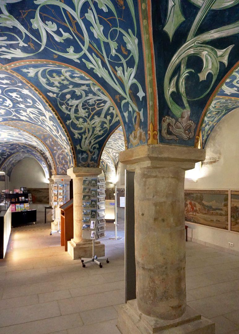 Gewölbeausmalung des Orlamündesaals Zweischiffiger Eingangsbereich