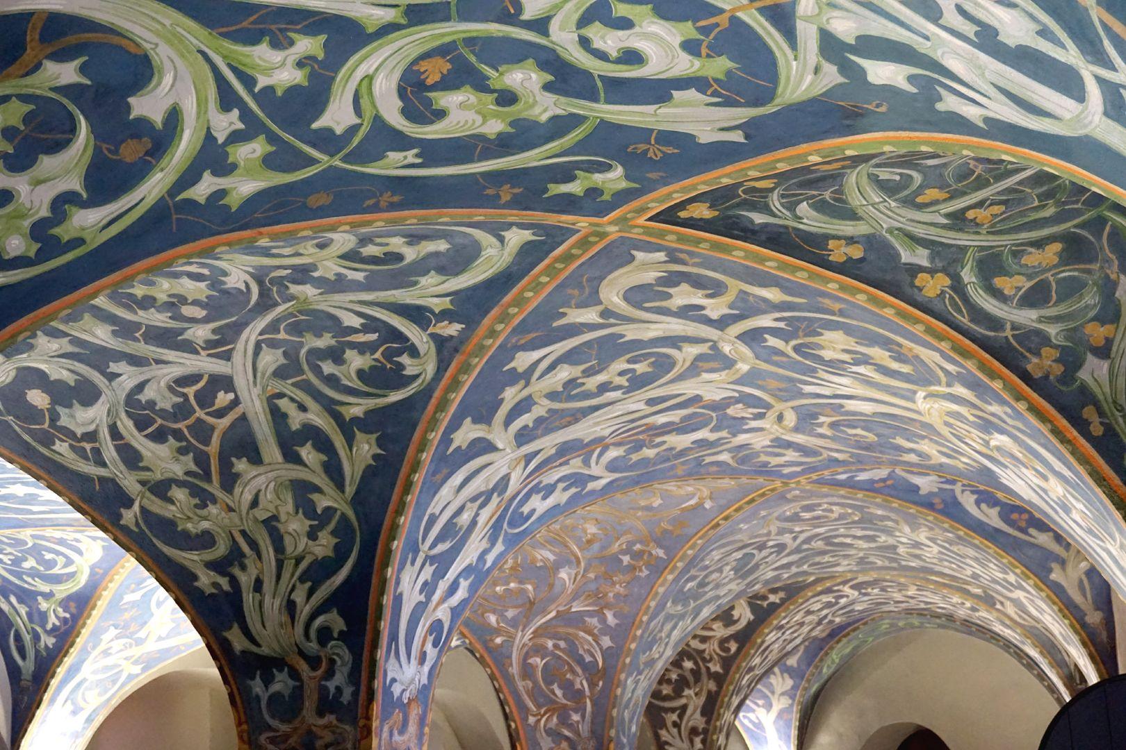 Gewölbeausmalung des Orlamündesaals Kreuzgratgewölbe der Renaissance mit Rankenmalerei