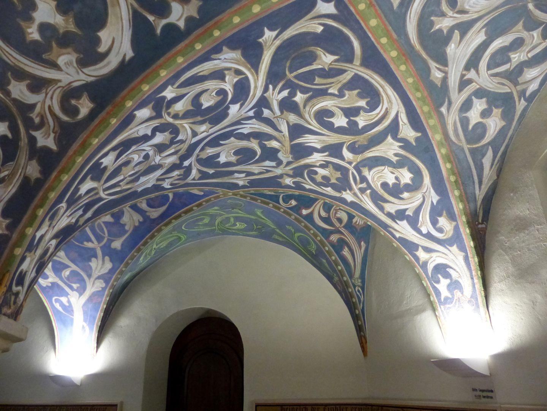Gewölbeausmalung des Orlamündesaals Sich in die Wand totlaufende Gewölbekappen