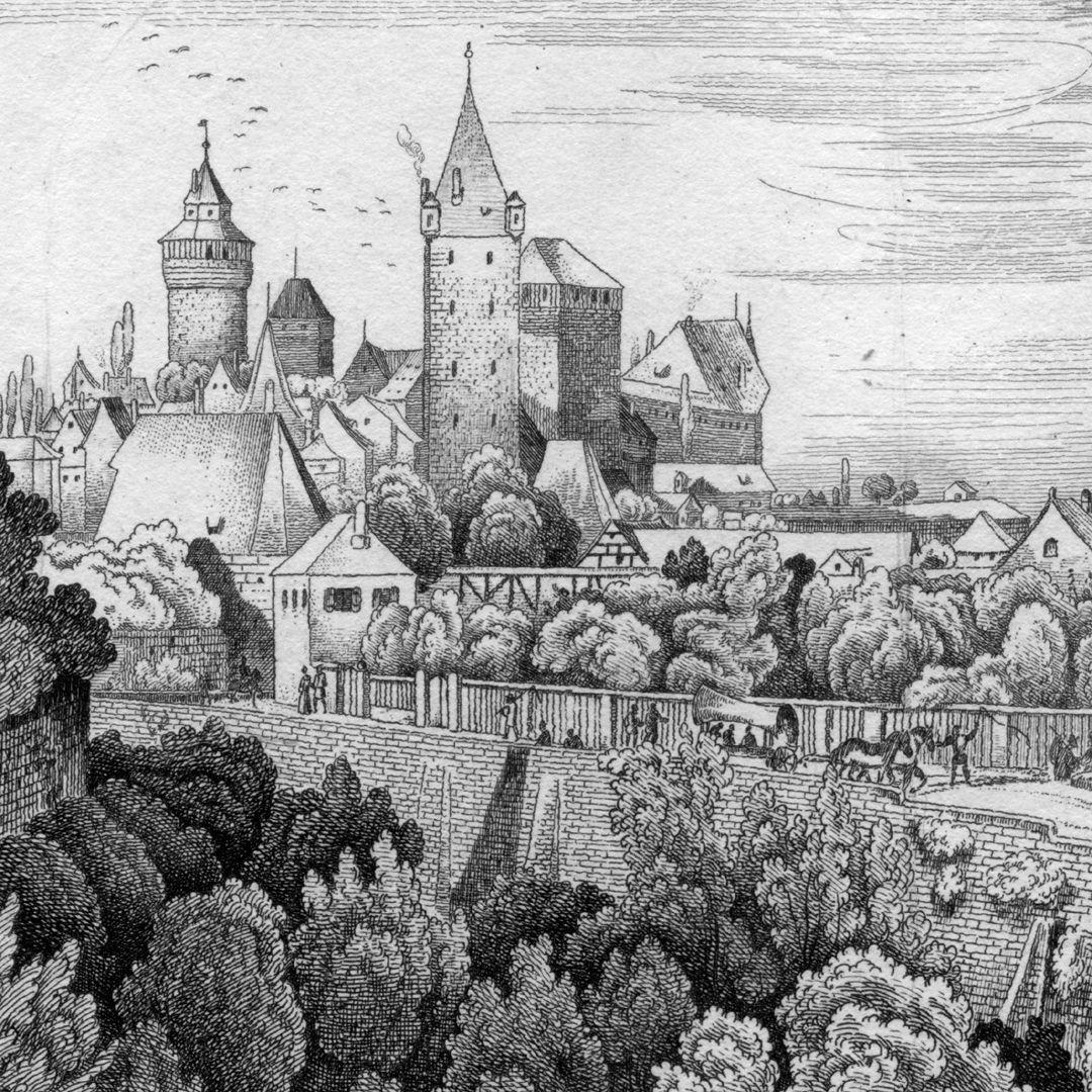 An der Stadtmauer hinter der Vesten Blick vom nordöstlichen Stadtmauerbereich