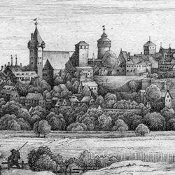 Die Burg von der Mitternacht-Seite