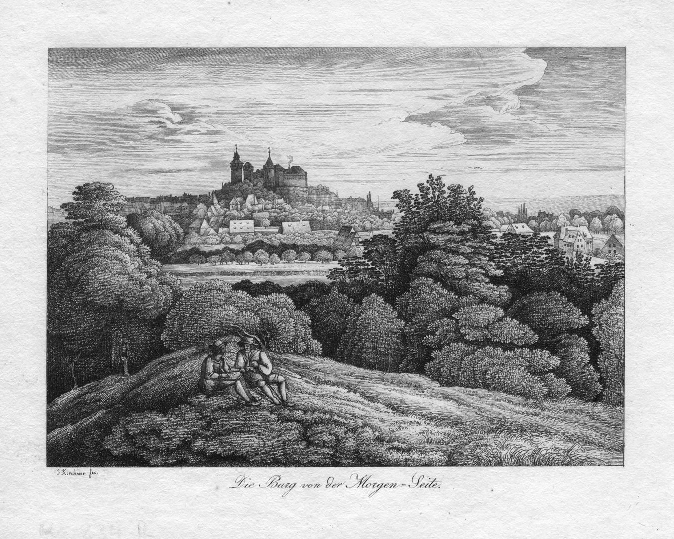 Die Burg von der Morgen-Seite