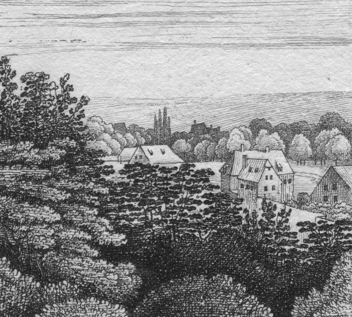Die Burg von der Morgen-Seite Bildausschnitt: rechter Blattrand