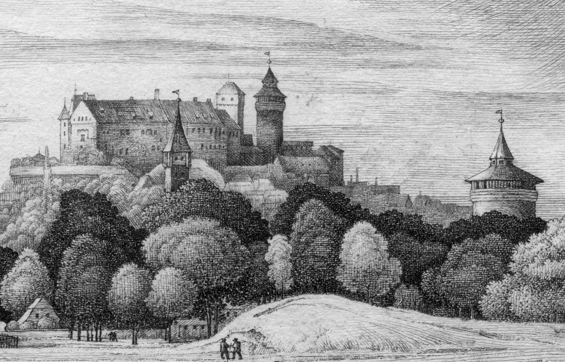 Die Burg von Süd-West Burgansicht von Süd-West mit Tiergärtnertorturm und Neutorturm