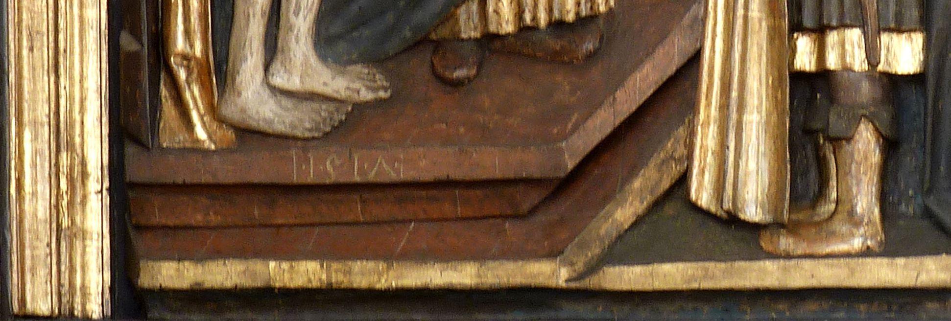 Kreuzaltar linker Flügel oben: Ecce homo, Datierung 1517