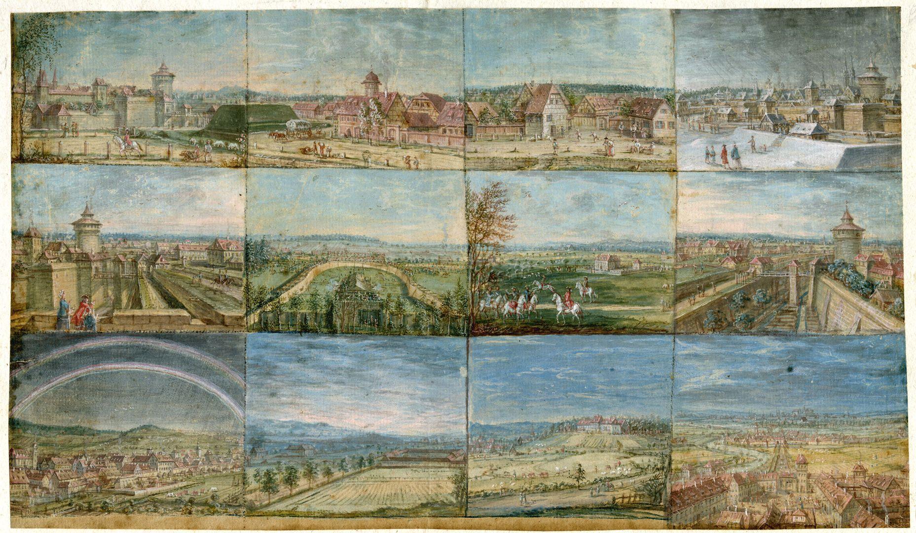 Zwölf Ansichten von Nürnberg und andernorts