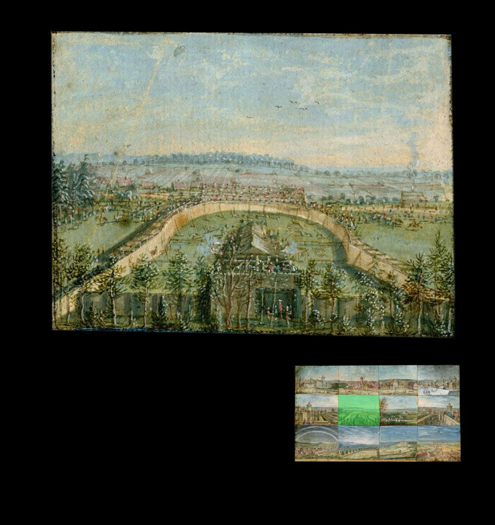 Zwölf Ansichten von Nürnberg und andernorts die Treibjagd des Markgrafen von Ansbach bei Eibach, 1757