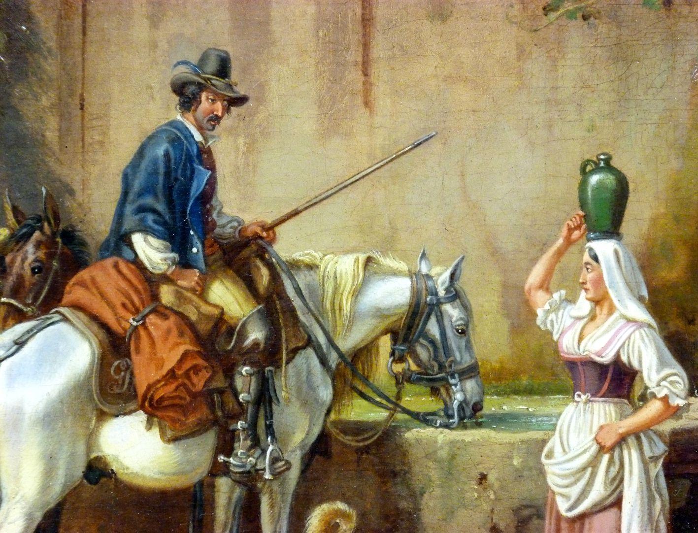 Römische Fuhrleute Detailansicht mit Hauptpersonen