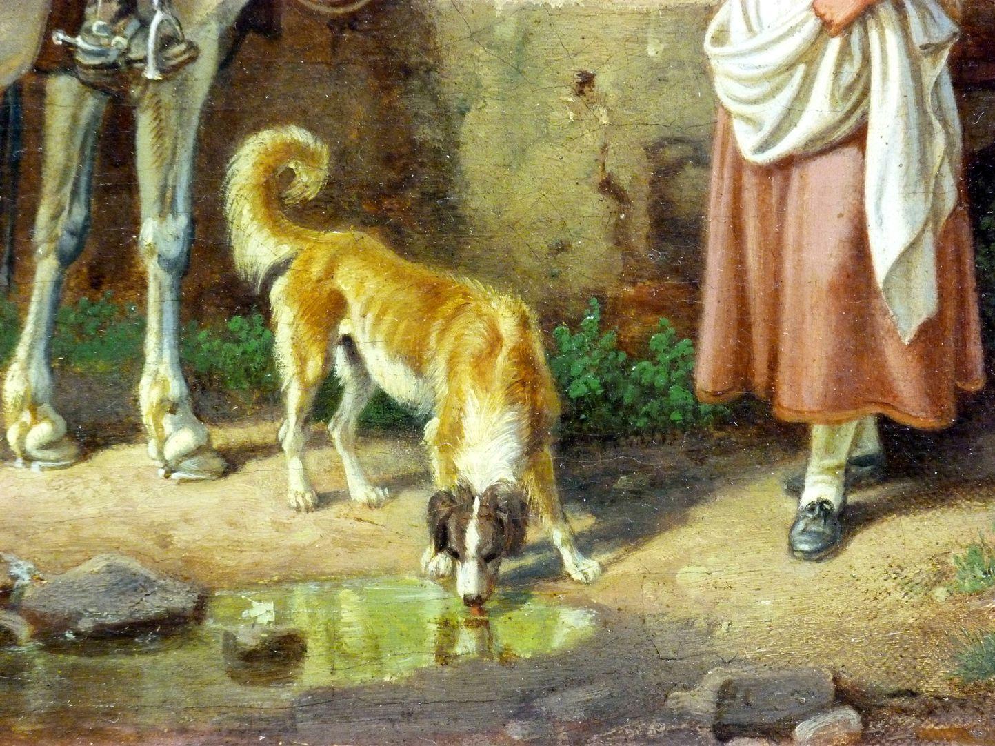 Römische Fuhrleute Detailansicht, Hund