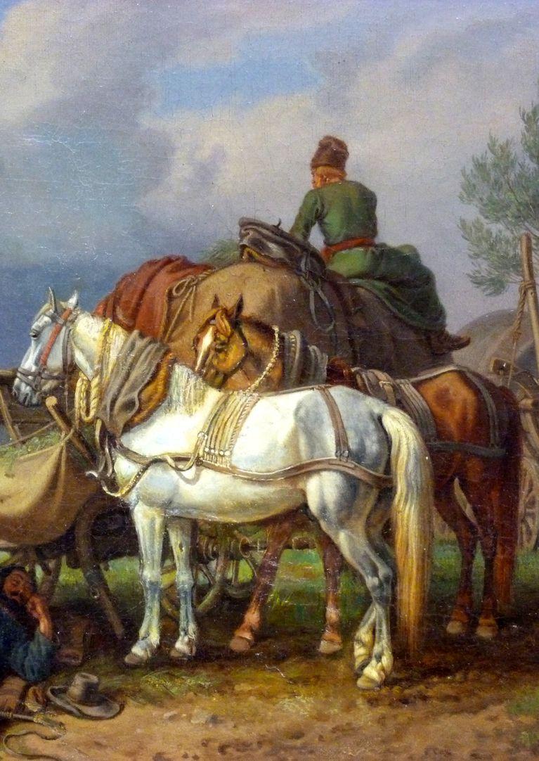 Rast Detailansicht mit Pferden