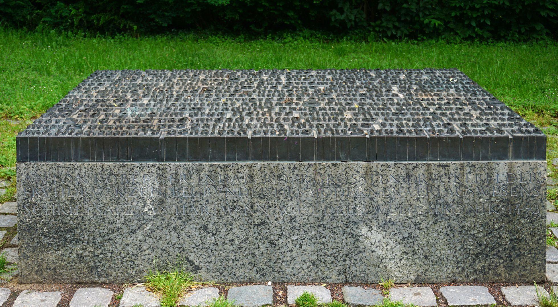 Anton Koberger / Gedenkstein Frontseite