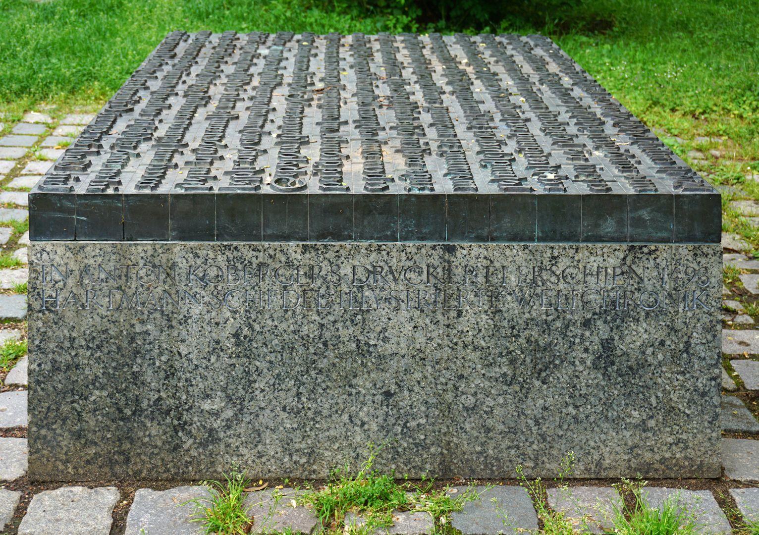 Anton Koberger / Gedenkstein Rechte Seite (Ansicht von Norden)