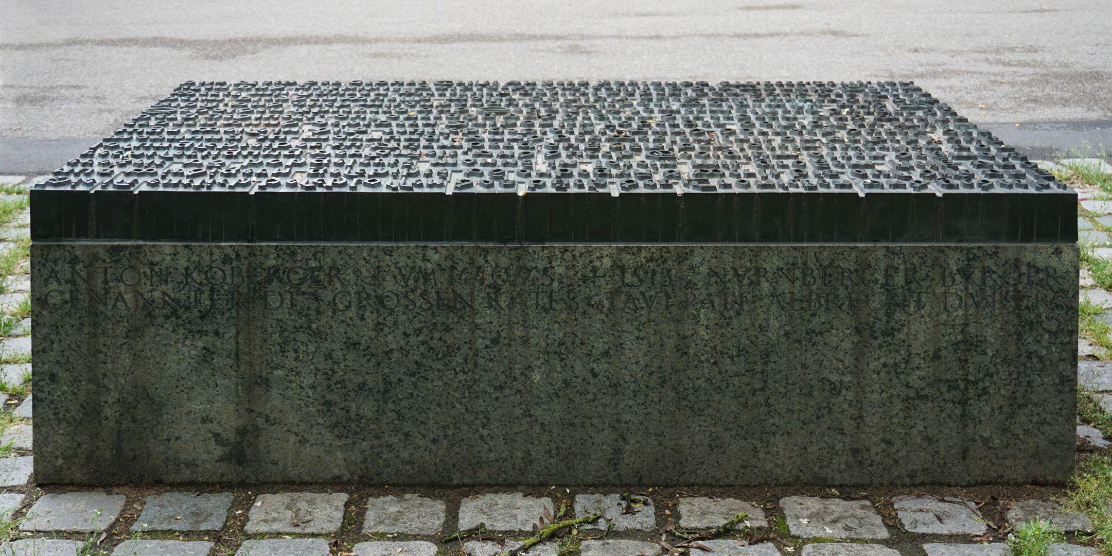 Anton Koberger / Gedenkstein Rückseite