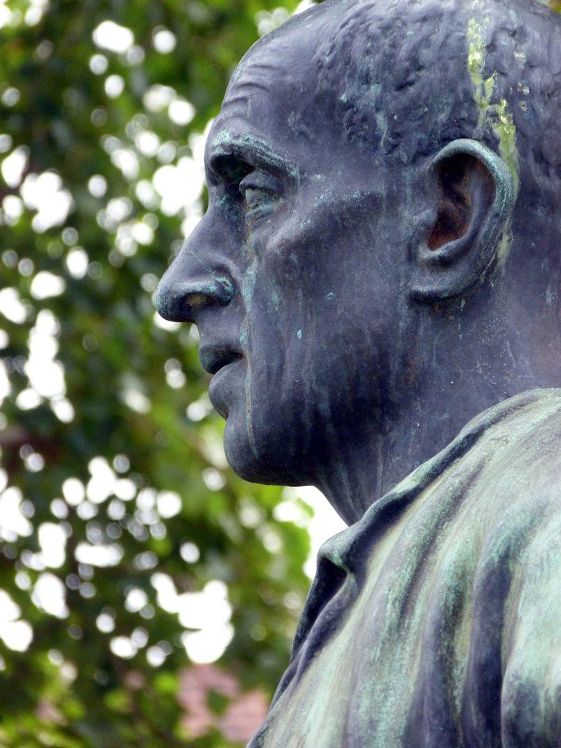 Standbild eines Bergmanns Kopf im Profil