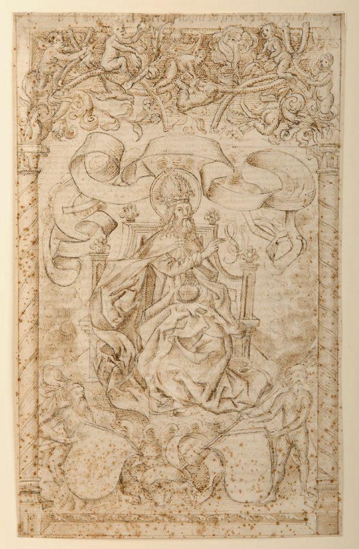 Titelbild der Schedelschen Weltchronik Kopie der Urzeichnung in London, 1490er Jahre ?