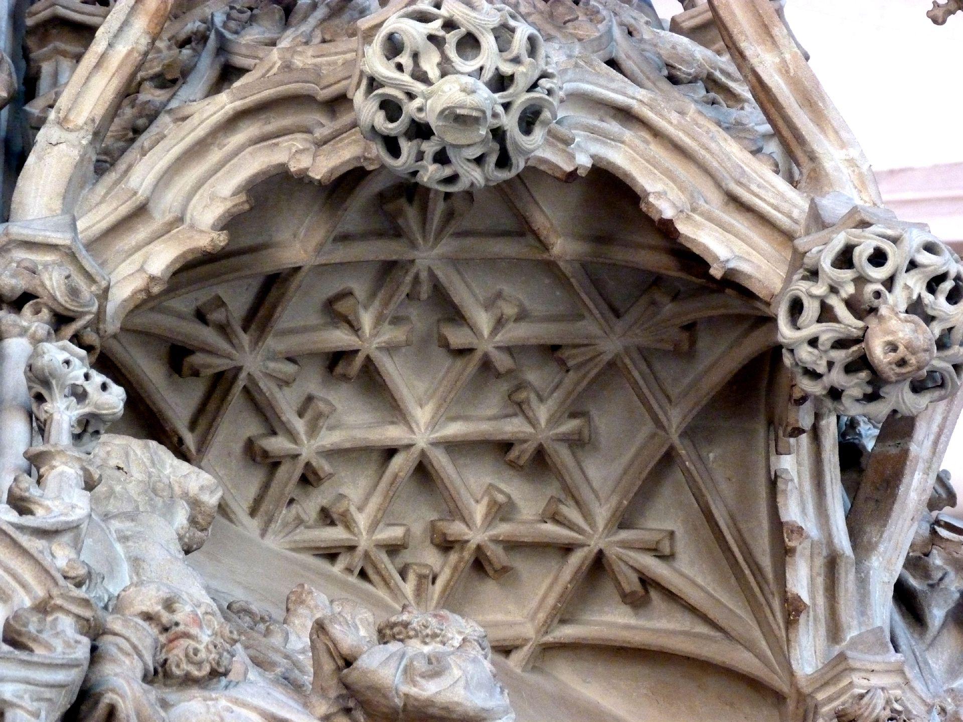 Sakramentshaus Gesprenge: Gewölbedarstellung über dem letzten Abendmahl