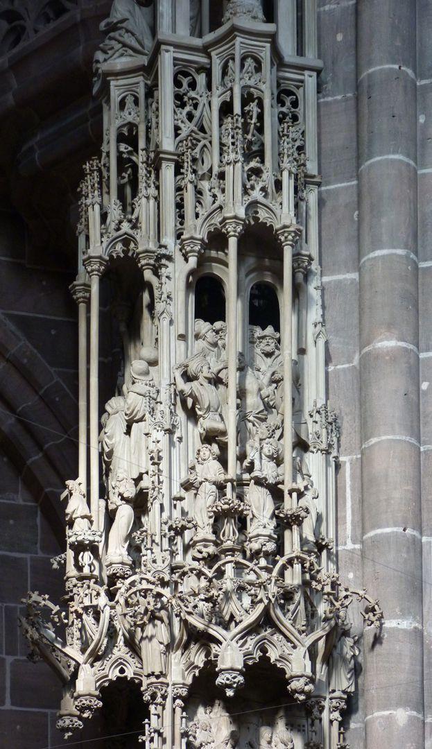 Sakramentshaus Gesprenge, Etage mit der Verspottung Christi