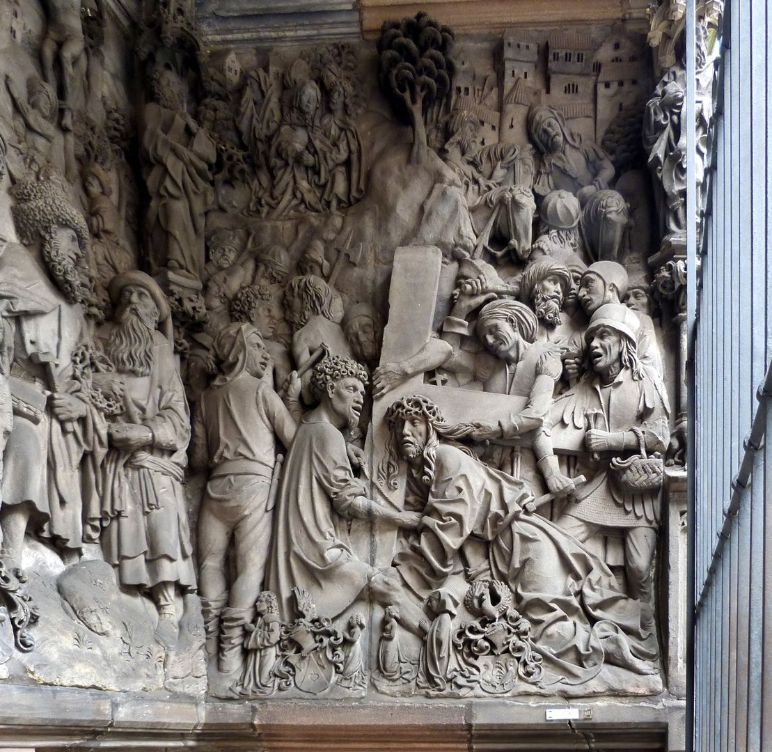 Schreyer-Landauersches Epitaph rechte Wand: Kreuztragung