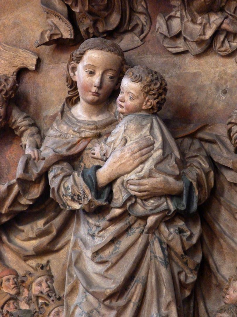 Peringsdörffer-Epitaph Detail: Maria mit Kind