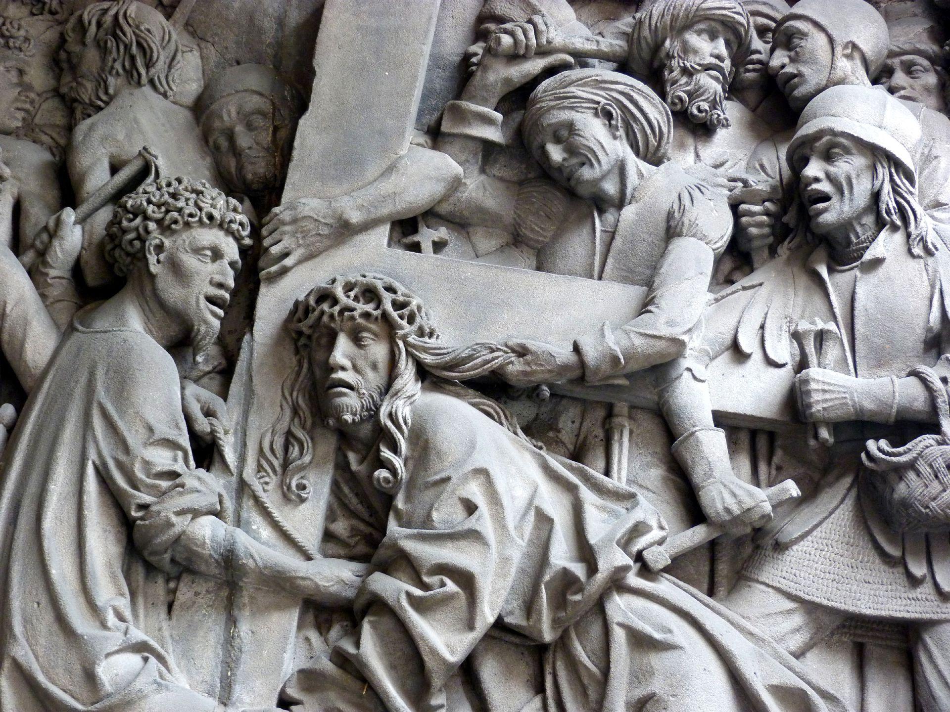 Schreyer-Landauersches Epitaph rechte Wand: Kreuztragung, Detail
