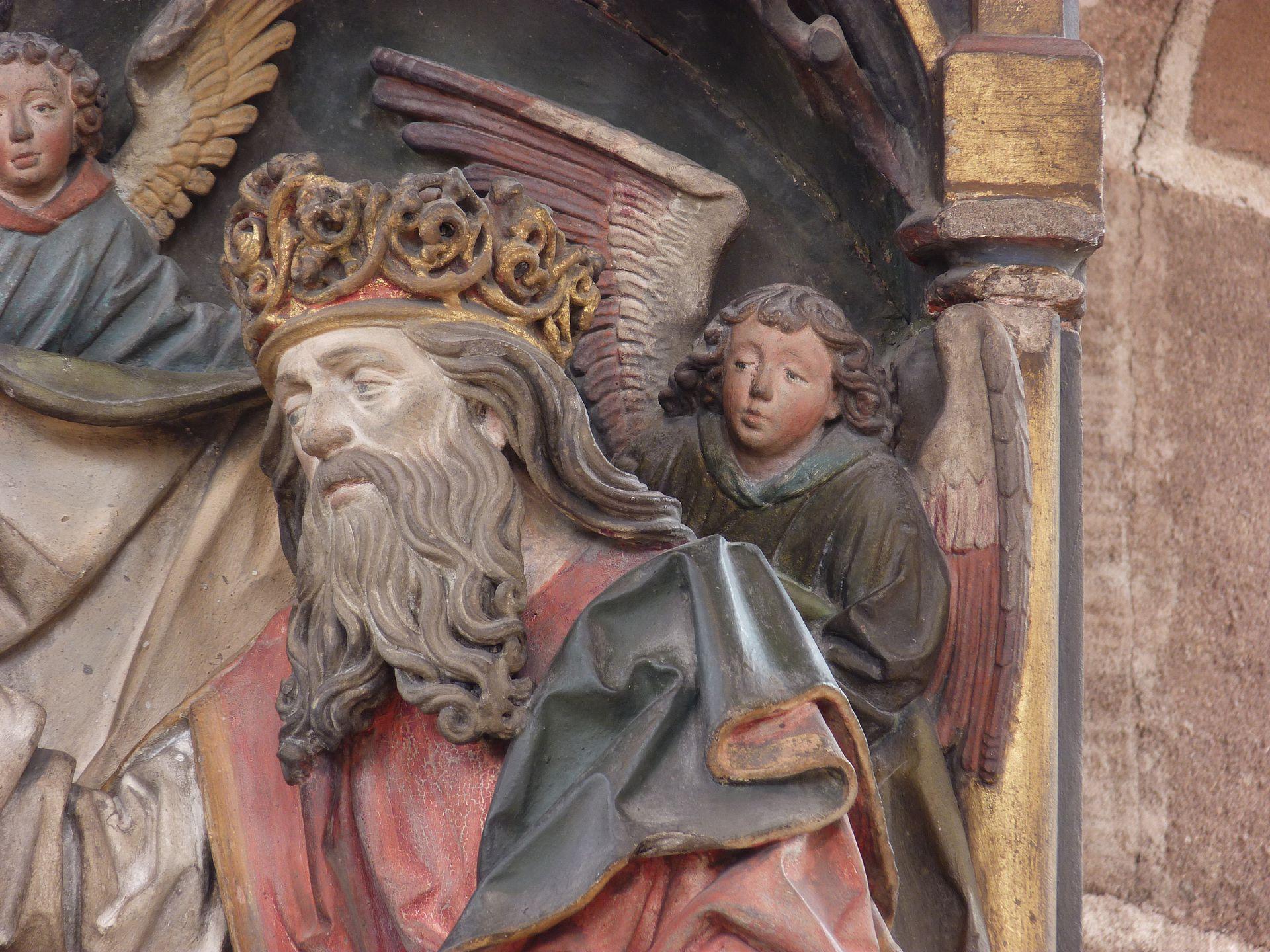 Epitaph des Hans Rebeck Detail: Gottvater und Engel