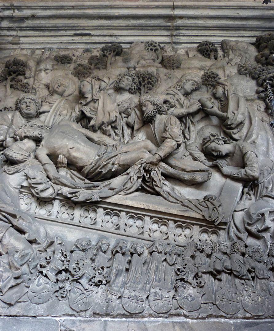 Schreyer-Landauersches Epitaph mittlere Wand: Grablegung