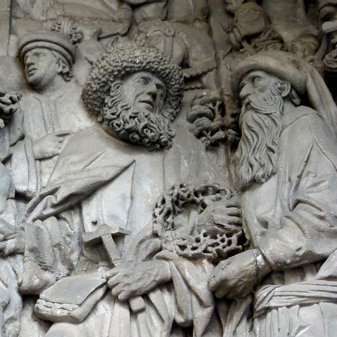 Schreyer-Landauersches Epitaph mittlere Wand: Grablegung, Josef von Arimathia und Nikodemus