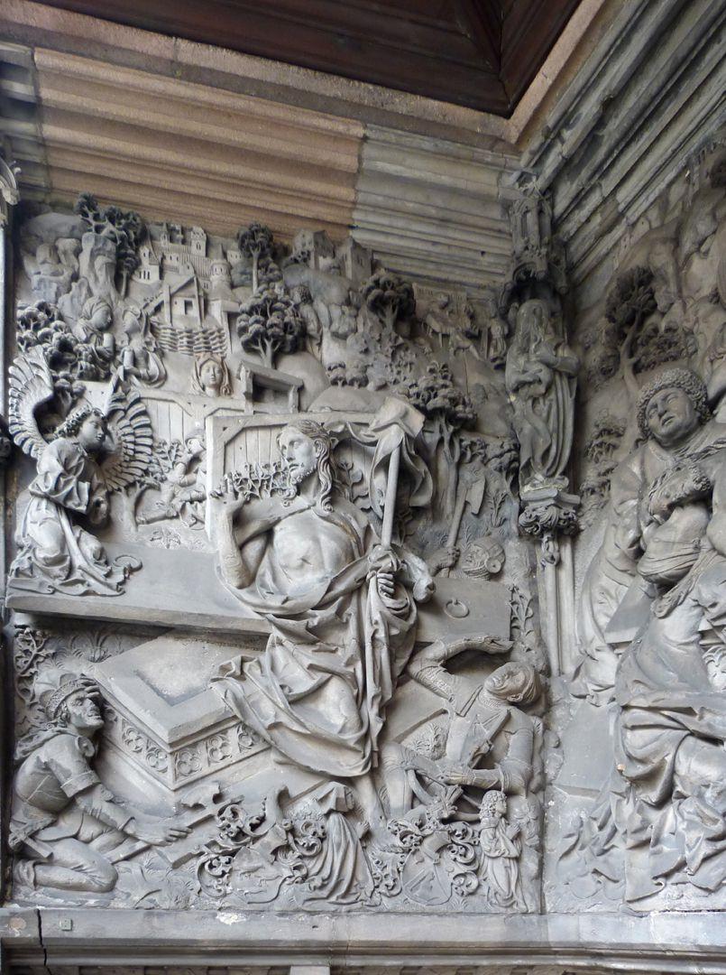 Schreyer-Landauersches Epitaph linke Wand: der Auferstandene