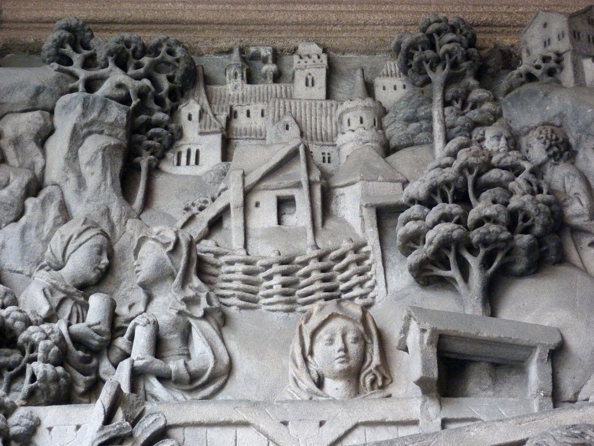 Schreyer-Landauersches Epitaph linke Wand: der Auferstandene, Hintergrunddetail