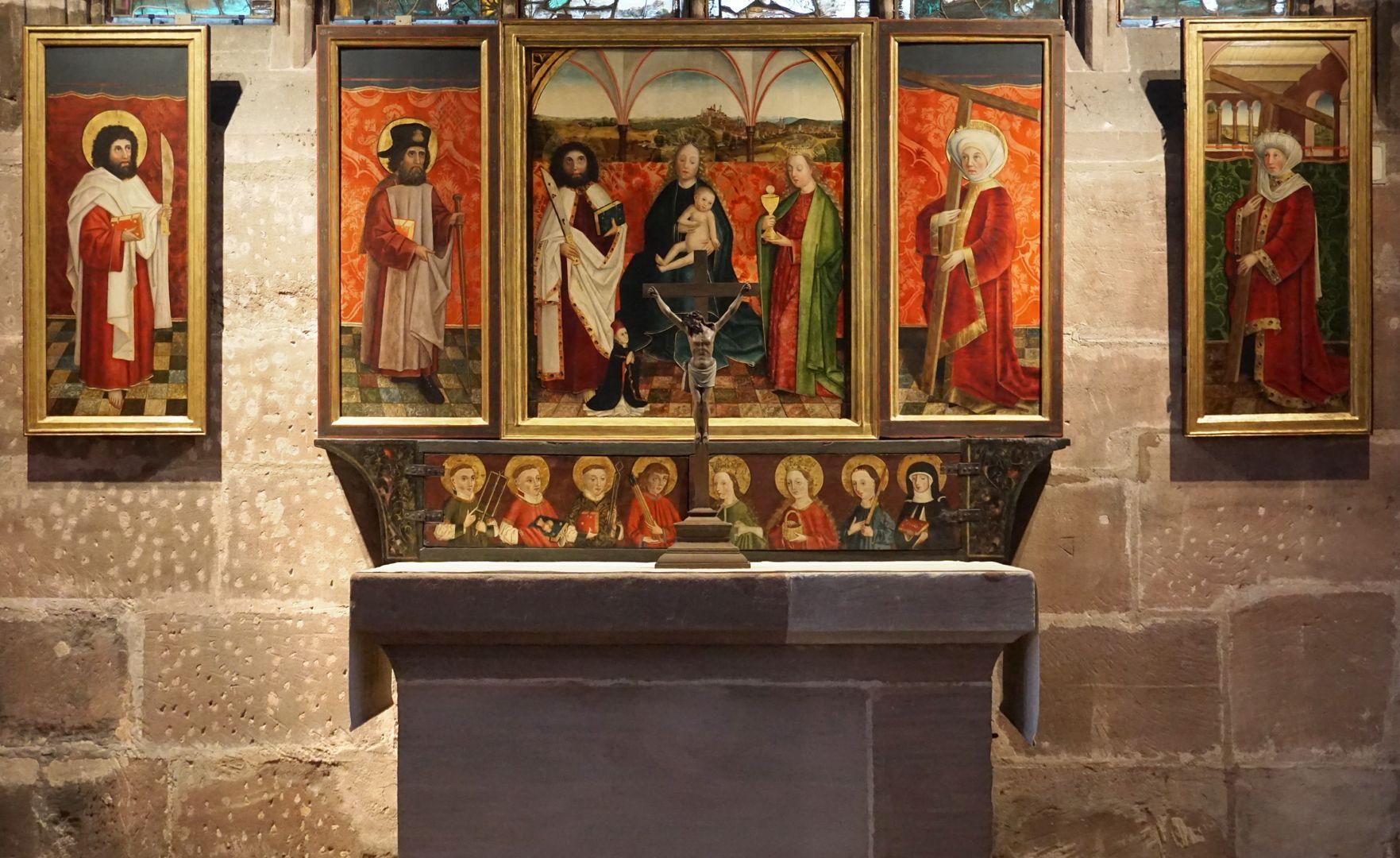 Krell-Altar Aufgeklappter Altar mit separat gehängten äußeren Seitenflügeln