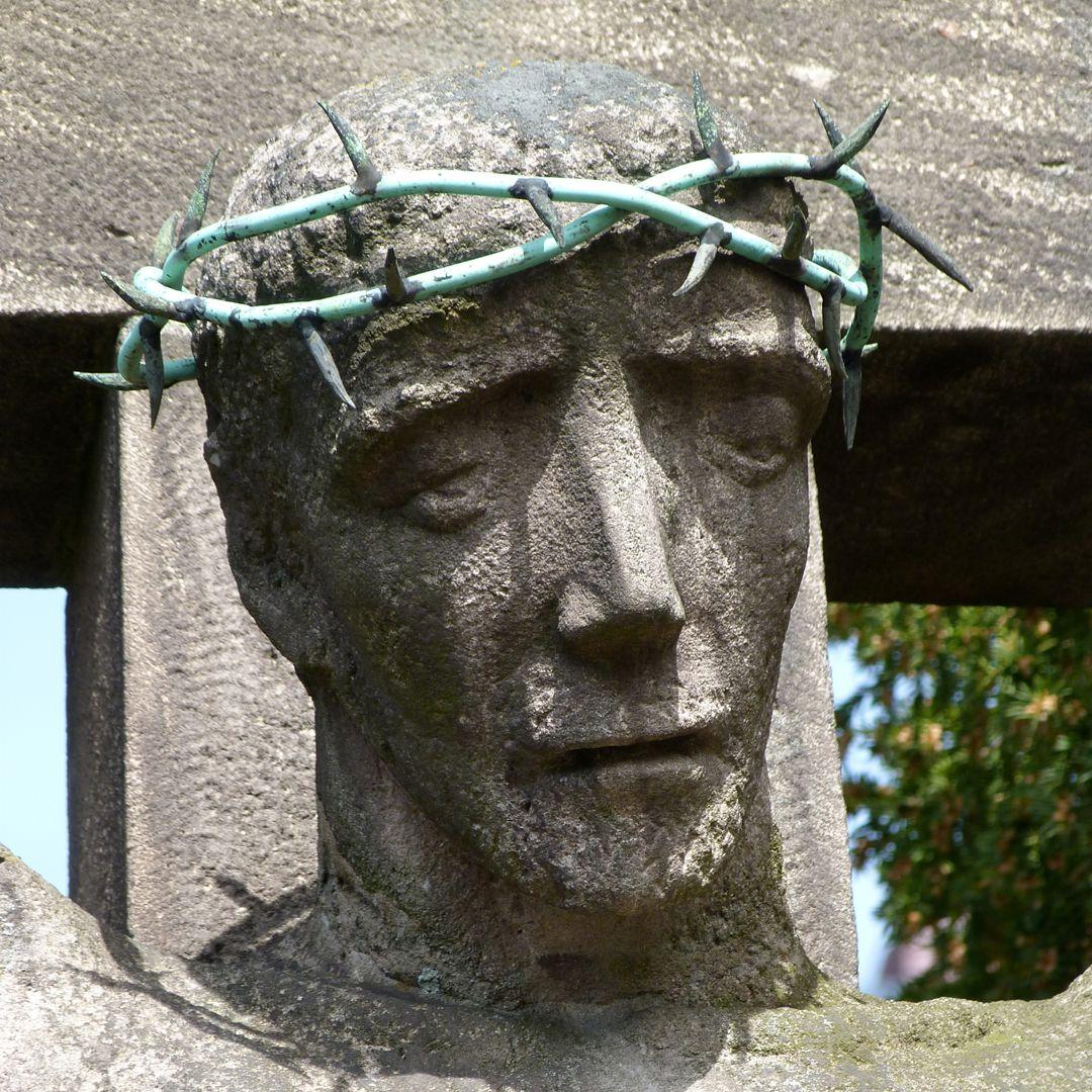 Christus am Kreuz Haupt Jesu