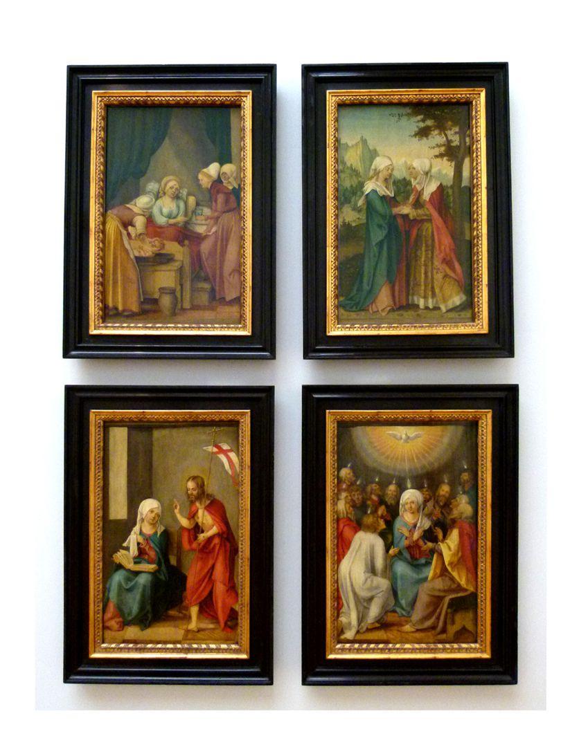 Vier Tafeln aus einem Marienleben-Altar Vier Tafeln aus einem Marienleben-Altar