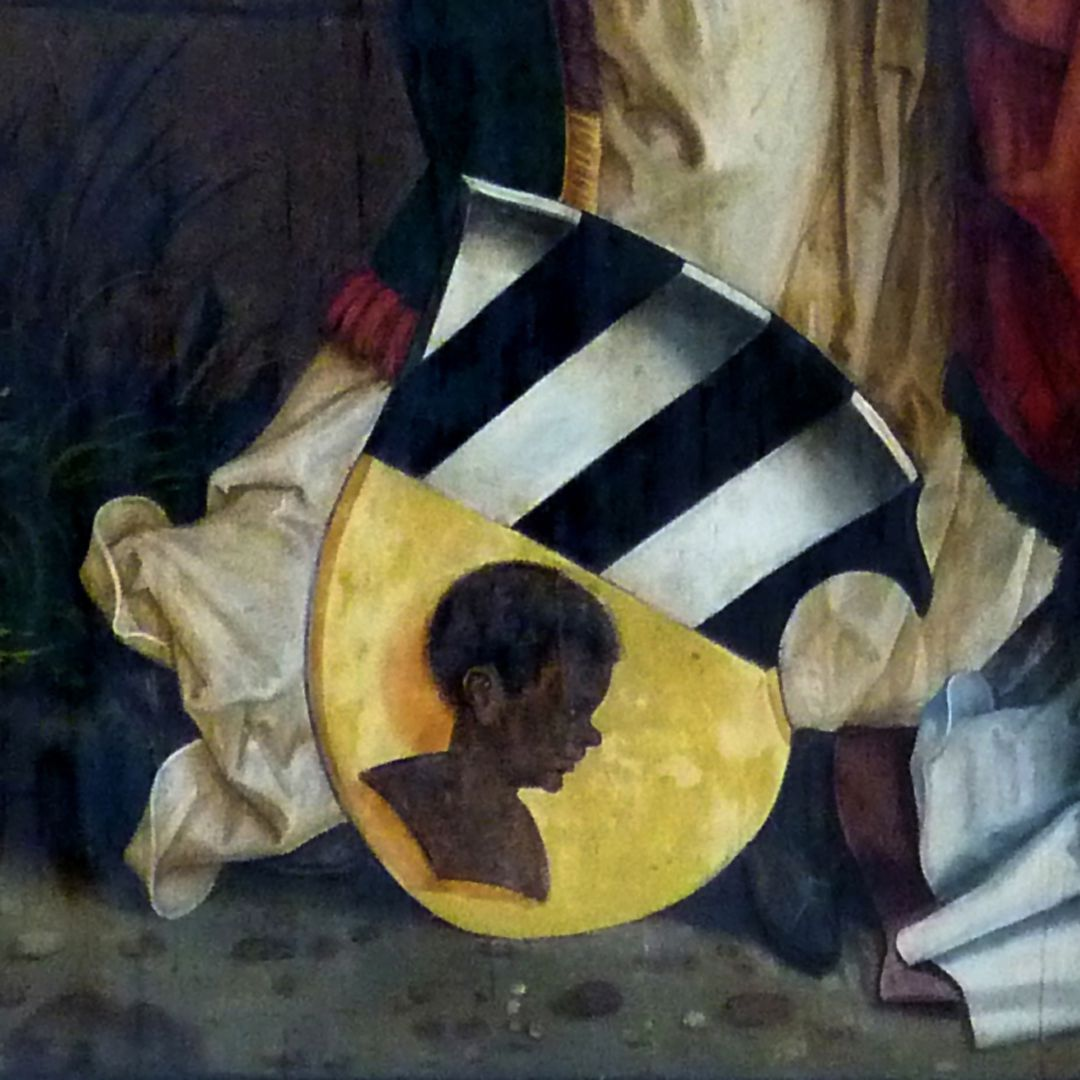 Epitaph für Propst Lorenz Tucher linke Tafel, Detail: Tucherwappen
