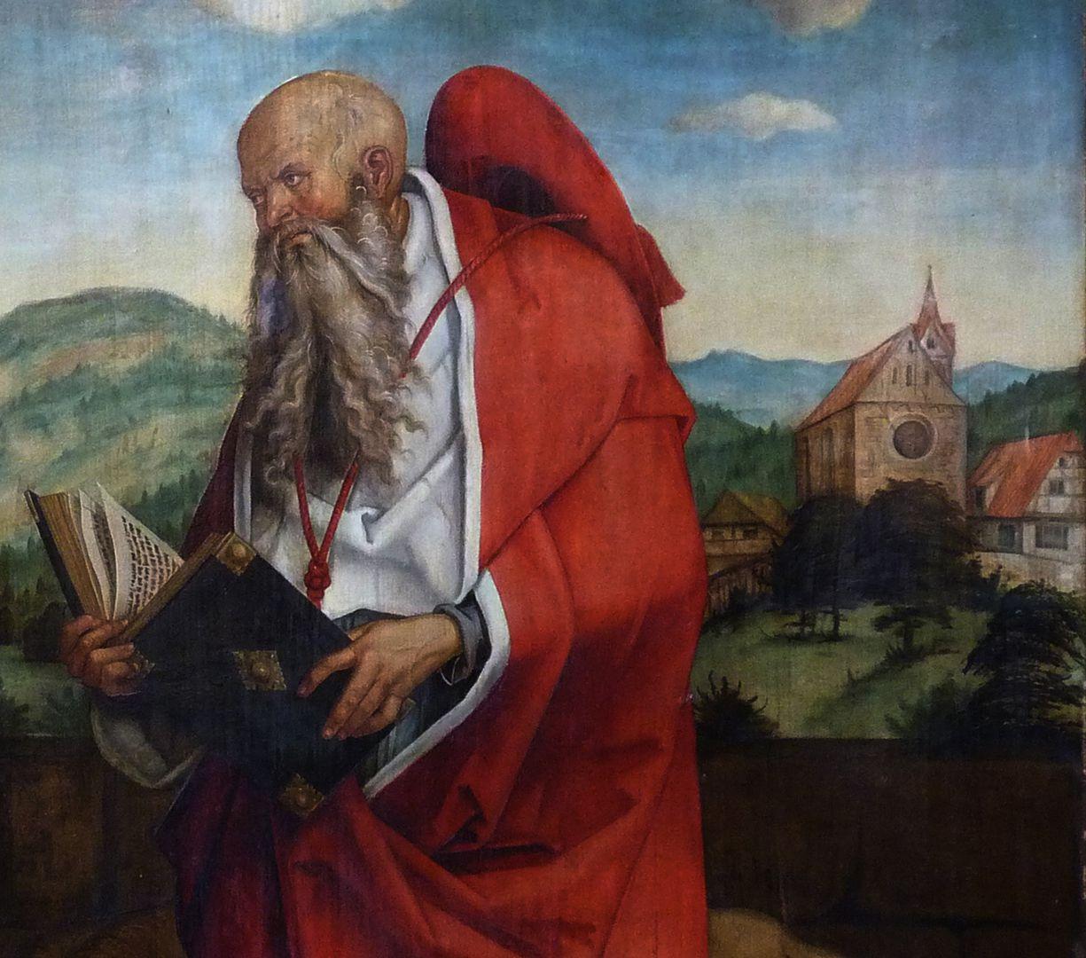 Epitaph für Propst Lorenz Tucher rechte Tafel, Detail: Hieronymus