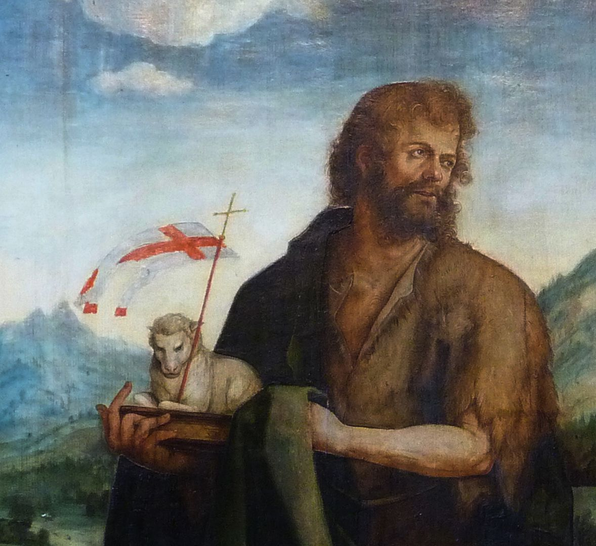 Epitaph für Propst Lorenz Tucher rechte Tafel: Detail: Johannes der Täufer