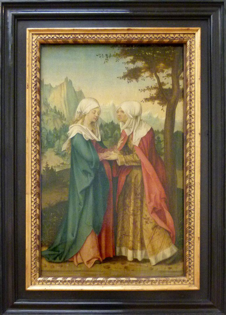 Vier Tafeln aus einem Marienleben-Altar Heimsuchung