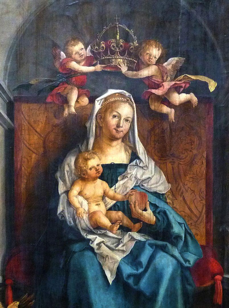 Epitaph für Propst Lorenz Tucher Mitteltafel, Detail: Maria mit dem Kinde
