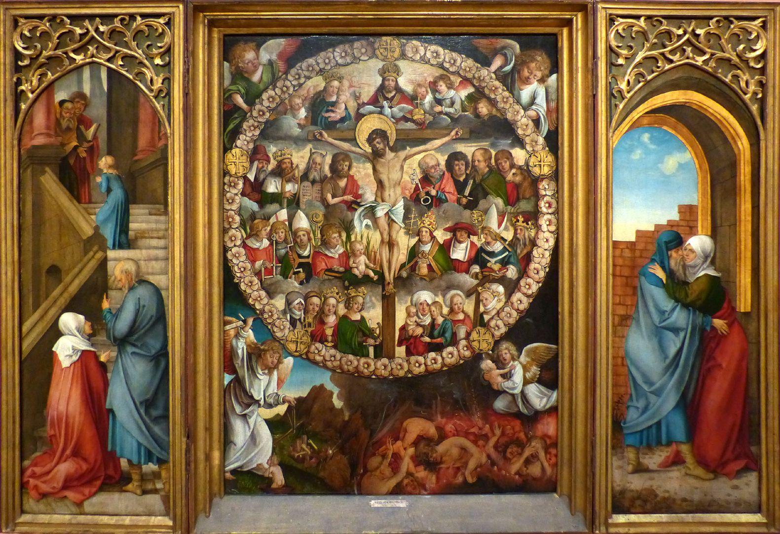 Rosenkranz Triptychon (Madrid) Gesamtaltar geöffnet