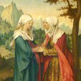 Vier Tafeln aus einem Marienleben-Altar