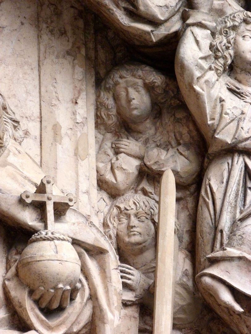Epitaph des Kunz Horn Detail mit Ehrfurcht empfindenden Engelein